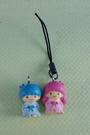 【震撼精品百貨】Little Twin Stars KiKi&LaLa 雙子星小天使~手機吊飾_黑繩