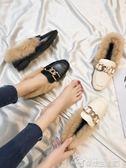 豆豆鞋豆豆鞋女夏季新款單鞋女平底英倫風韓版百搭懶人樂福小皮鞋女  夢想生活家