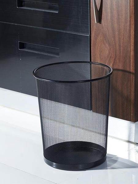 垃圾桶 北歐垃圾桶大號家用辦公室用廚房客廳廁所商用創意衛生間鐵網紙簍 【4-4超級品牌日】