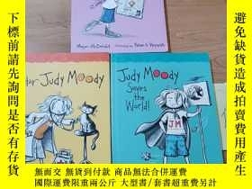 二手書博民逛書店JUDY罕見MOODY:Gets Famous2 Saves the World3 5(3本合售)Y24620
