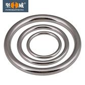 304不銹鋼無痕圓環圓圈O型環吊環實心無縫鋼環吊床瑜伽連接環鋼圈