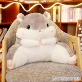 倉鼠抱枕被子兩用靠背護腰靠墊靠枕辦公室腰墊毯子男暖手枕頭椅子 印象家品旗艦店