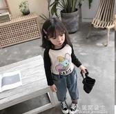 女童長袖上衣-純棉兒童裝長袖t恤女童打底衫洋氣寶寶秋裝新款上衣韓版時髦 花間公主
