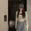 春季韓版外搭短款針織開衫女收腰顯瘦泡泡袖豎向紋理薄款防曬上衣 陽光好物