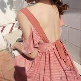 巴厘島沙灘裙女夏2018新款長裙海邊度假裙顯瘦波西米亞連身裙泰國  良品鋪子
