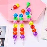 免削鉛筆 鉛筆 免削筆 活動鉛筆 彩虹 文具 5支 可拆卸 環保鉛筆 表情鉛筆 【M058】生活家精品
