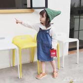 女童牛仔背帶裙 秋2018新款吊帶裙兒童洋裝子潮 BF13391『寶貝兒童裝』