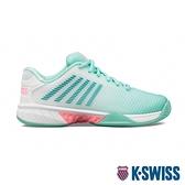 K-SWISS Hypercourt Express 2透氣輕量網球鞋-女-白/綠/粉紅