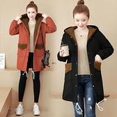 大尺碼斗篷 大碼女裝秋冬新款厚外套 200斤胖mm羊羔毛外套寬鬆加絨保暖棉服大衣