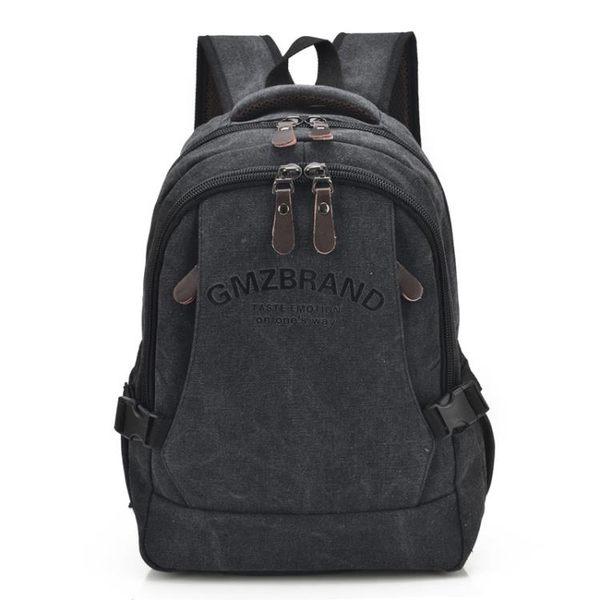 復古帆布後背包 雙肩背包韓版學生書包筆電包《印象精品》e109