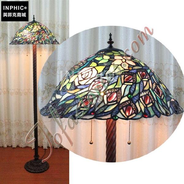 INPHIC-訂製低調復古手工藝術落地燈中世紀歐洲經典創意燈飾彩色玻璃藝術燈具_S2626C
