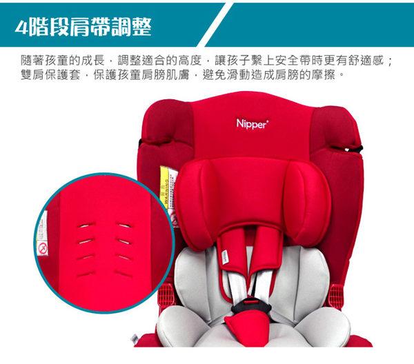 【奇買親子購物網】Nipper 0-7歲兒童汽車安全座椅(藍/紅/黑)