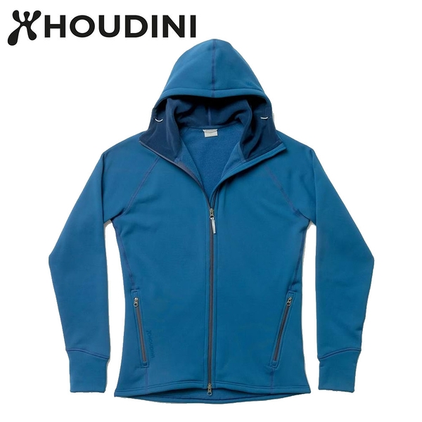 瑞典【Houdini】M`s Power Houdini 男款Power Stretch® Pro™保暖外套 民俗藍
