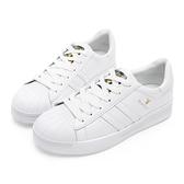 PLAYBOY 簡約潮流 條紋拼接休閒鞋-白(Y5318白)