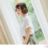 《AB7118-》花草藤蔓刺繡設計短袖襯衫 OB嚴選