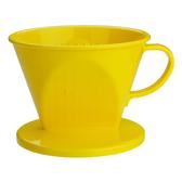金時代書香咖啡  Tiamo 102 AS咖啡濾器 1-4杯份 黃色  HG5281