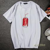 新品熱賣夏春男士短袖加肥加大純棉T恤寬鬆打底大碼圓領加肥半袖「時尚彩虹屋」