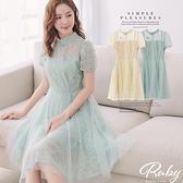 洋裝 中國風蕾絲親子短袖洋裝-露比午茶
