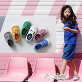 春秋款西班牙香香鞋兒童帆布鞋男童女童低筒軟底入園一腳蹬小童鞋 盯目家