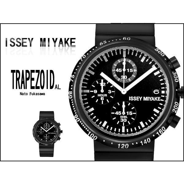 ISSEY MIYAKE 三宅一生 TRAPEZOID系列手錶 型男低調黑日本機芯腕錶 柒彩年代【NE825】SILAQ005