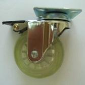3吋透明綠剎車輪(平板60X60)