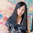 韓系全頂假髮 髮色霧面質感黑一刀剪 長直髮 高品質假髮 C8232 魔髮樂