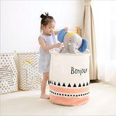 帆布大號防水臟衣籃兒童收納桶收納籃布藝棉麻可摺疊臟衣桶WY【八五折免運直出】