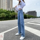 秋裝寬鬆直筒牛仔褲女年新款高腰顯瘦小個子寬管垂感拖地褲子 雙十二全館免運