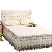 (聖誕交換禮物)夏季床罩床裙式單件蕾絲花邊1.5米1.8x2.0m床套公主風防滑
