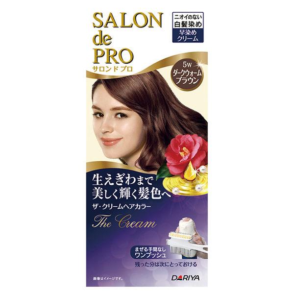 DARIYA沙龍級白髮專用快速染髮霜5W暗紅棕