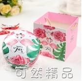 歐式結婚創意森系馬口鐵喜糖盒抖音糖盒裝糖鐵盒子糖果包裝盒手提 可然精品