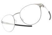 Ic! Berlin 光學眼鏡 JAMES C. PEARL (銀) 輕量工藝大圓框款 薄鋼眼鏡 # 金橘眼鏡