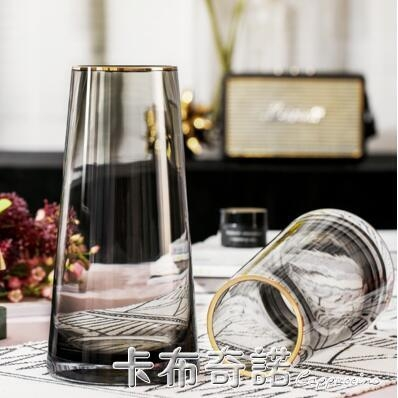 輕奢花瓶網紅透明玻璃擺件客廳插花干花餐桌小創意簡約北歐一對價 聖誕節鉅惠