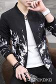 男士新款秋季韓版潮流帥氣青年棒球服外套LVV4450【KIKIKOKO】
