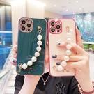 三星Note20/10/9/8珍珠腕帶保護殼 SamSung 保護套 Galaxy n20 Ultra手機套素面 三星note10pus手機殼