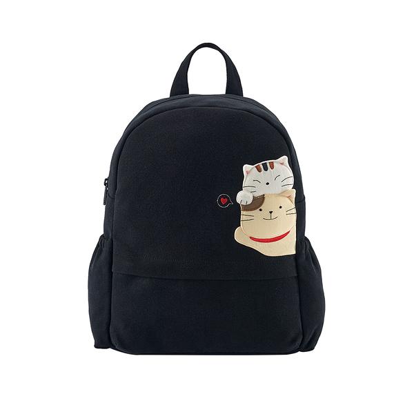 愛的抱抱後背包-酷黑/手提包/拼布包包