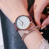 手錶簡約磨砂帶時尚防水男錶正韓學生復古女錶【全館八折免運快出】