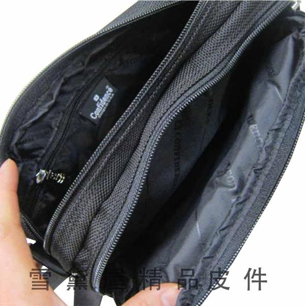~雪黛屋~CONFIDENCE 斜側包小型容量台灣製造高品質保證高單數防水尼龍布二層主袋口ACB1211