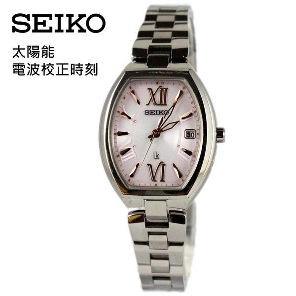 [萬年鐘錶] SEIKO LUKIA 太陽能 電波校正 萬年曆 日期顯示 鈦金屬 酒桶型 女錶 1B22-0BY0P(SSQW025J)