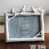 創意相框 5寸6寸7寸8寸三只鳥樹脂相框創意照片框小鳥擺台彩繪家居飾品 童趣屋