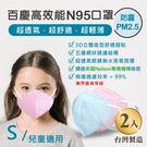 John m.百慶N95防霾PM2.5高效能口罩 兒童適用 (2入)