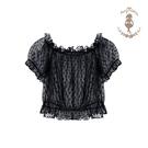全館83折 Mary瑪麗小姐 原創點點lolita 日常內搭短袖罩衫