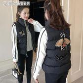 馬甲外套 秋冬季羽絨棉馬甲女短款面包服韓版無袖棉衣學生坎肩外套 「繽紛創意家居」