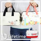 〖LifeTime〗﹝拉鍊保溫便當袋﹞日貨手提餐袋 便當袋 拉鍊收納袋 貓咪 迪士尼 米奇 B19117