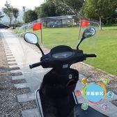 遮雨棚  機車擋風板電瓶車通用可折疊擋雨板電動車透明前擋水加厚擋風膜xw