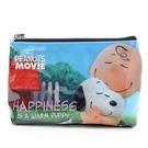 《sun-star》SNOOPY-史努比 The Peanuts Movie系列大容量皮革筆袋(幸福抱抱)★funbox生活用品★_OP47829
