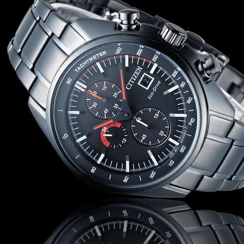 星辰 CITIZEN Eco-Drive 征服極速計時腕錶 CA0595-54E 黑