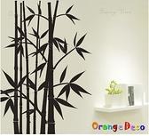 壁貼【橘果設計】黑色竹 DIY組合壁貼 牆貼 壁紙室內設計 裝潢 壁貼