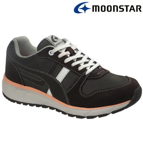 日本【MOONSTAR】防水防滑輕量舒適健走鞋(女款3E寬楦) - 黑可可