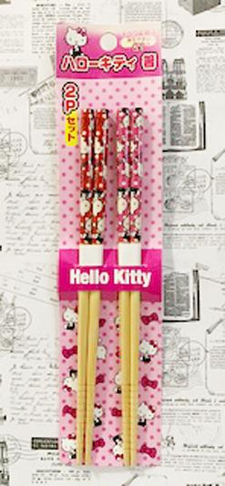 【震撼精品百貨】Hello Kitty 凱蒂貓~三麗鷗 kitty 日本竹筷/筷子(21CM)-2入點點#23907